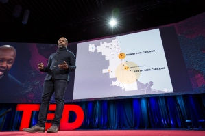 Theaster Gates speaks at TED2015 - Truth and Dare, Session 7, March 16-20, 2015, Vancouver Convention Center, Vancouver, Canada. Photo: Bret Hartman/TED