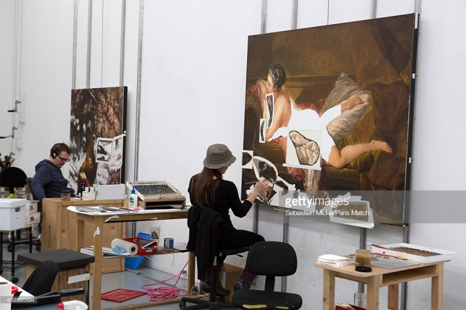 NEW YORK, UNITED STATES - NOVEMBER 14: Jeff Koons's studio in which assistants work on new works created by the artist are photographed for Paris Match on November 14, 2014 in New York City. (Photo by Sebastien Micke/Paris Match/Contour by Getty Images) *** Local Caption *** Andre Techine