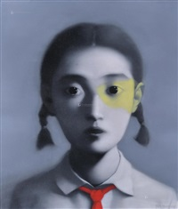 zhang-xiaogang-2006--女孩-布面油画