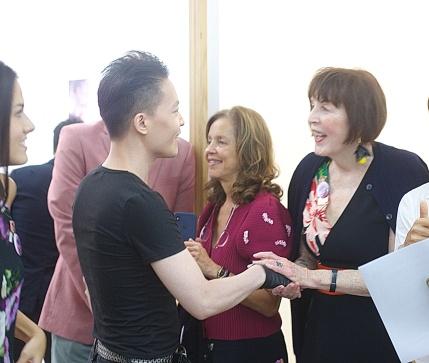 Michael Andrew Law Cheuk Yui meet Marilyn Minter 1 IMG_3703bbb post